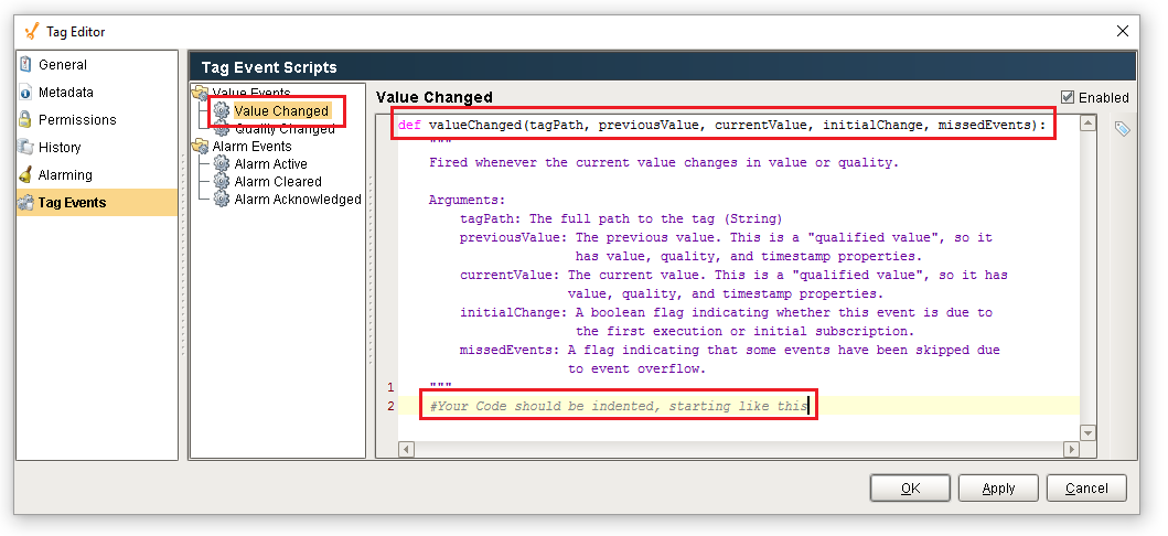 Tag Event Scripts - Ignition User Manual 7 9 - Ignition Documentation