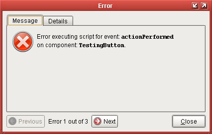 Reading Error Messages - Ignition User Manual 7 9 - Ignition