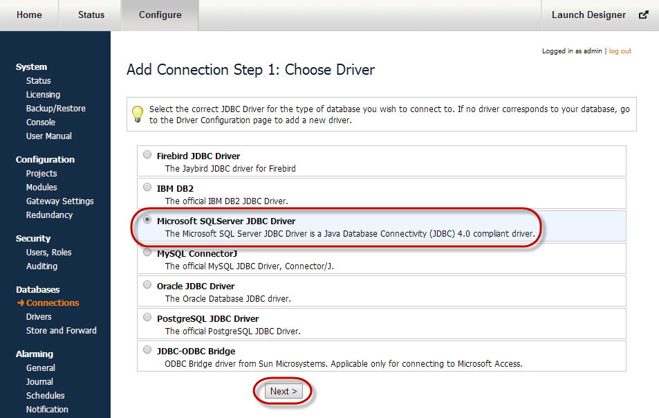 Connecting to Microsoft SQL Server Express - Ignition User