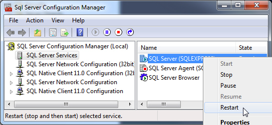 Connecting to Microsoft SQL Server Express - Ignition User Manual