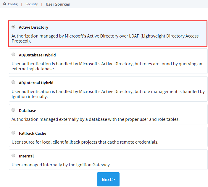 Active Directory Authentication - Ignition User Manual 8 0