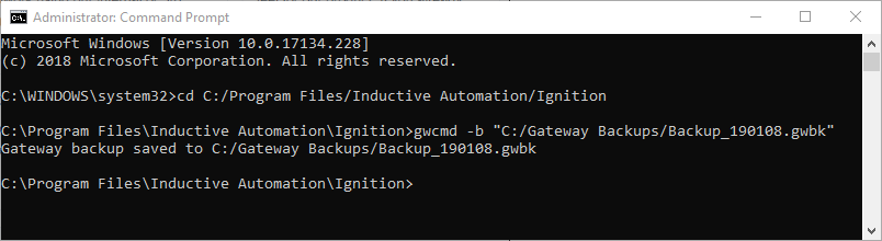 Gateway Command-line Utility - Ignition User Manual 8 0
