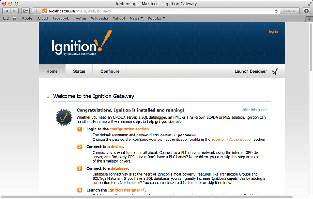 Installing Ignition on Mac OS X - Ignition User Manual 7 8