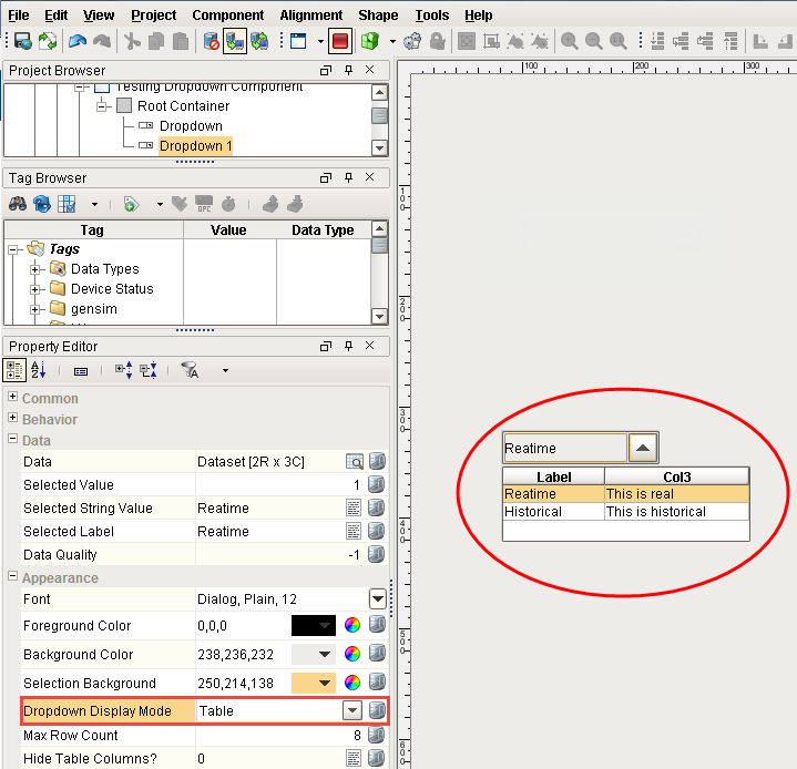 Dropdown List Example - Ignition User Manual 7 9 - Ignition