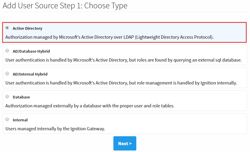 Active Directory Authentication - Ignition User Manual 7 9
